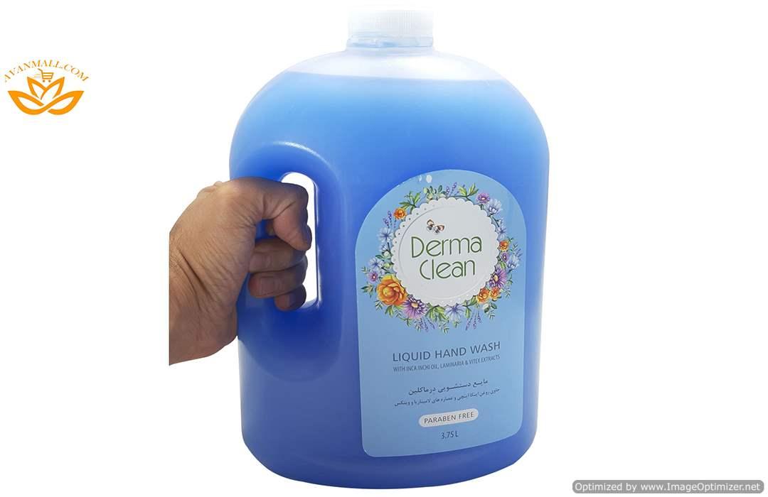 مایع دستشویی 3.75 لیتری درماکلین در کارتن 4 عددی