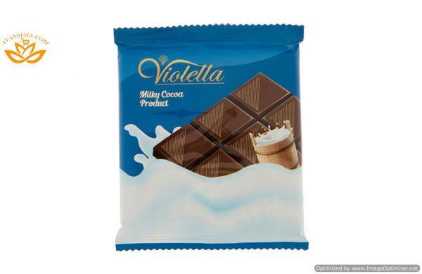 فرآورده کاکائویی شیری تابلت ویولتا 5 گرمی فرمند در 8 جعبه 100 عددی