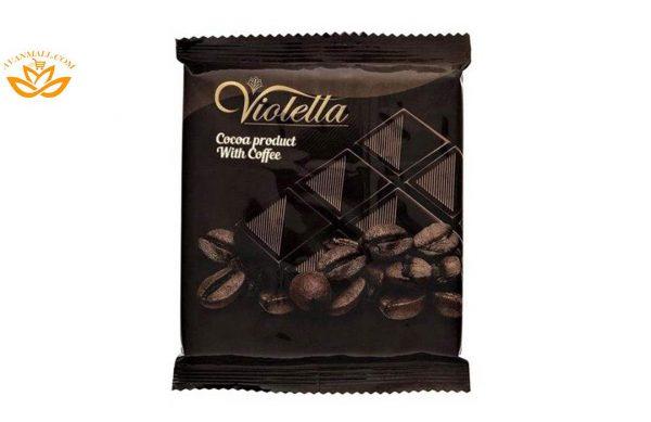فرآورده کاکائویی قهوه تابلت ویولتا 5 گرمی فرمند در 8 جعبه 100 عددی