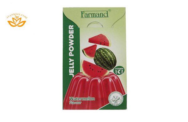 پودر ژله 100 گرمی فرمند با طعم هندوانه در 6 بسته 9 عددی