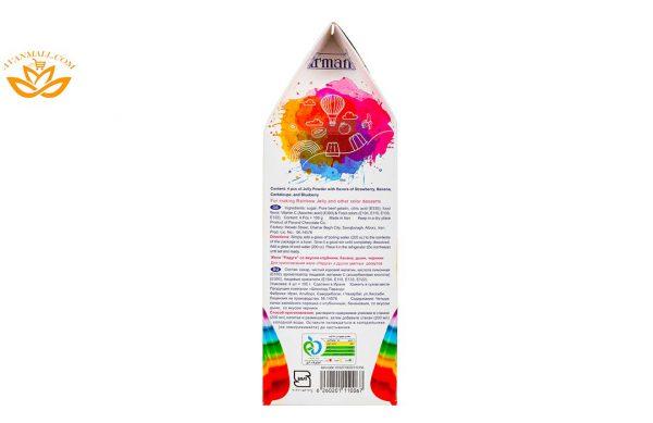 پودر ژله رنگین کمان 400 گرمی فرمند در کارتن 12 عددی