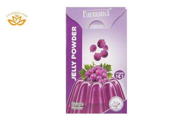 پودر ژله 100 گرمی فرمند با طعم انگور در 6 بسته 9 عددی