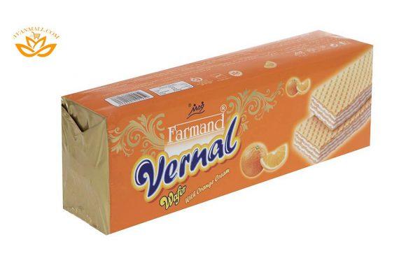 ویفر ورنال 80 گرمی فرمند با طعم پرتقالی در 4 جعبه 12 عددی