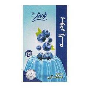 عکس شاخص پودر ژله 100 گرمی فرمند با طعم تمشک آبی در 6 بسته 9 عددی