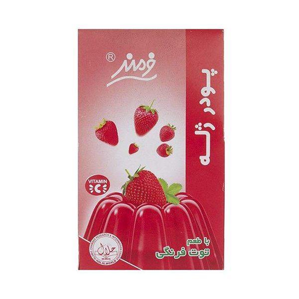 پودر ژله 100 گرمی فرمند با طعم توت فرنگی در 6 بسته 9 عددی