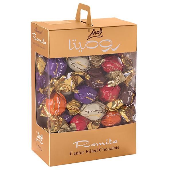 عکس شاخص شکلات کادوئی رومیتا میکس طرح لبخند 400 گرمی فرمند در کارتن 6 عددی