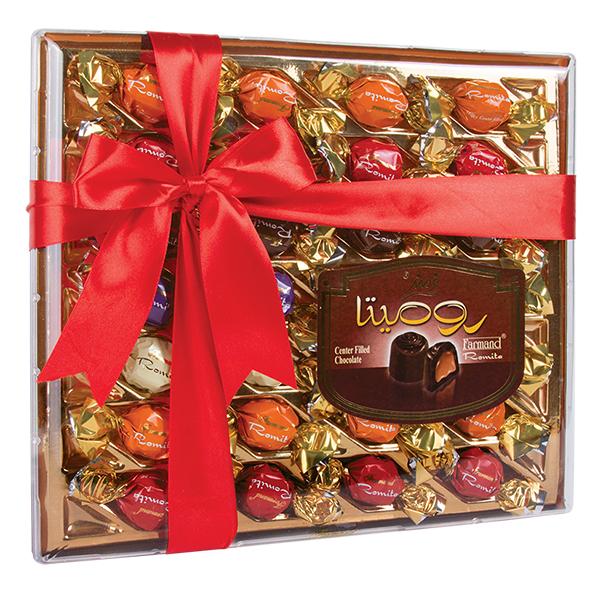 عکس شاخص شکلات کادوئی رومیتا کریستال 284 گرمی فرمند در کارتن 5 عددی