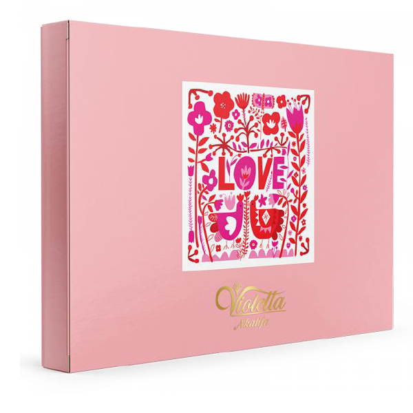عکس شاخص شکلات کادوئی 187 گرمی آکالیفا طرح شوکولاو در کارتن 5 عددی