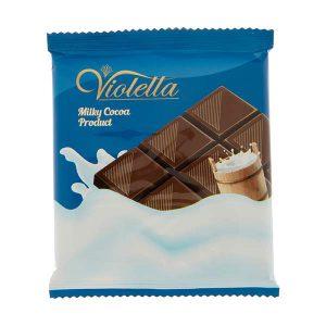 عکس شاخص فرآورده کاکائویی شیری تابلت ویولتا 5 گرمی فرمند در 8 جعبه 100 عددی