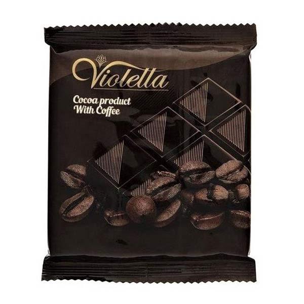 عکس شاخص فرآورده کاکائویی قهوه تابلت ویولتا 5 گرمی فرمند در 8 جعبه 100 عددی