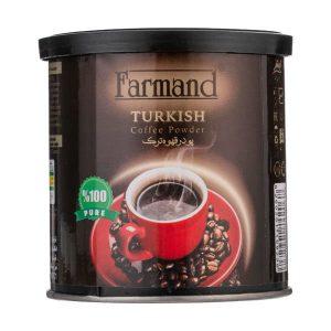 عکس شاخص پودر قهوه 100 گرمی فرمند در کارتن 12 عددی