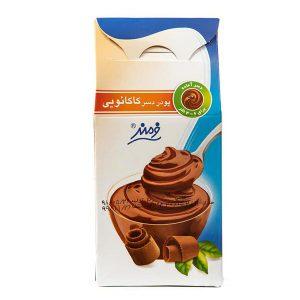 عکس شاخص پودر دسر 125 گرمی فرمند با طعم کاکائو در 6 جعبه 8 عددی