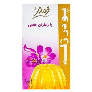 عکس شاخص پودر ژله 100 گرمی فرمند با طعم زعفران در 6 بسته 9 عددی