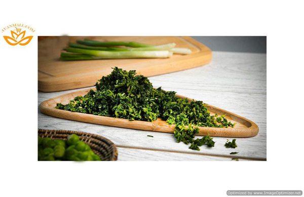 سبزی قرمه خرد شده آماده مصرف در بسته 5 کیلوگرمی