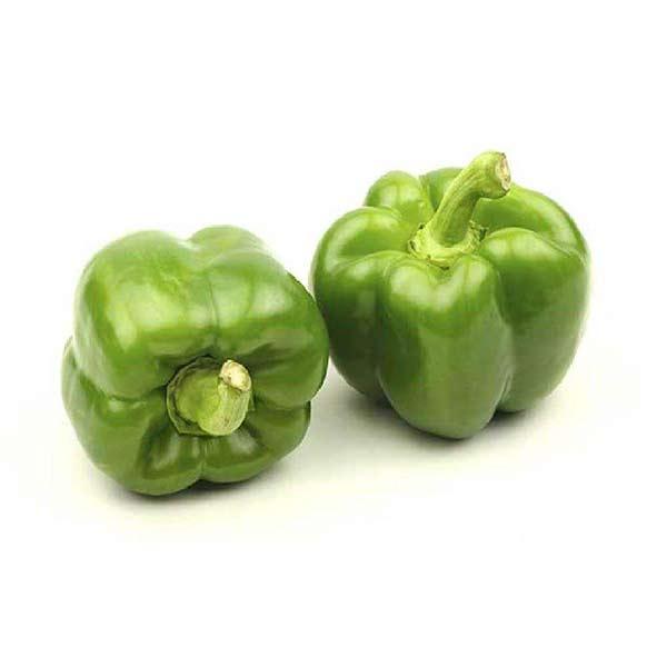 فلفل دلمه سبز سایز متوسط در سبد 10 کیلوگرمی