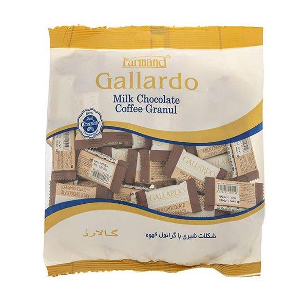 عکس شاخص شکلات شیری با گرانول قهوه گاردو 330 گرمی فرمند در کارتن 4 عددی