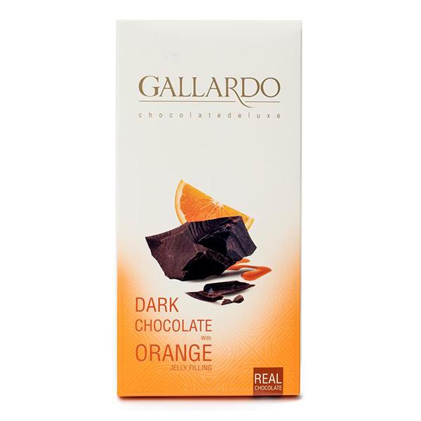 عکس شاخص شکلات تلخ با مغز پرتقال تابلت گالارد 100 گرمی فرمند در 12 جعبه 6 عددی