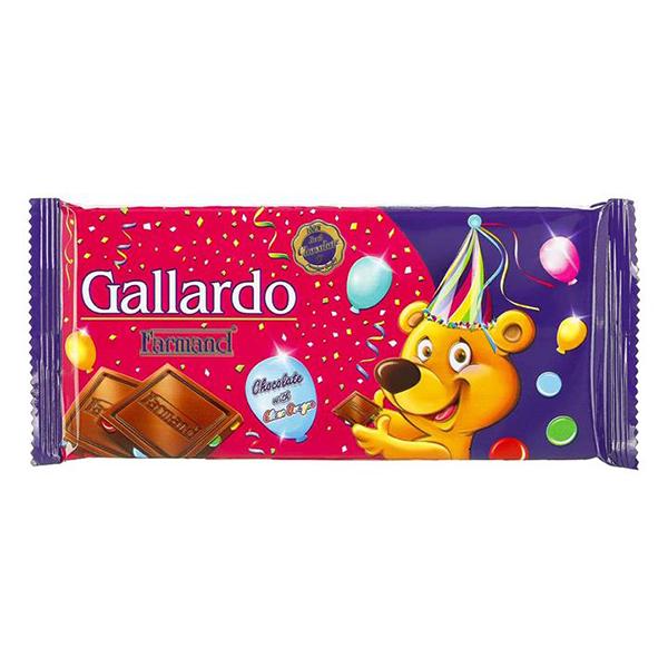 عکس شاخص شکلات شیری با اسمارتیز تابلت گالارد 65 گرمی فرمند در 6 جعبه 12 عددی