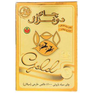 عکس شاخص چای دوغزال طلایی ۵۰۰ گرمی در کارتن 24 عددی