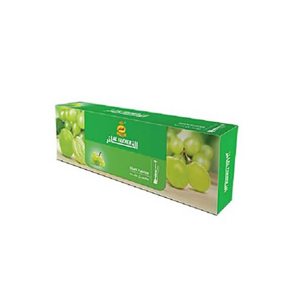 عکس شاخص تنباکو انگور سفید 50 گرمی الفاخر در باکس 10 عددی